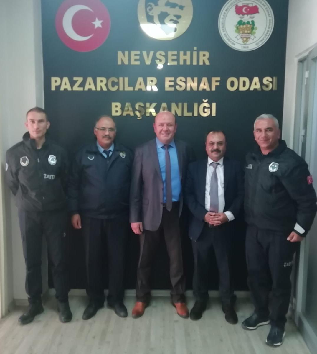Ürgüp ve Kozaklı zabıta müdürleri Nevşehir pazaryerini incelediler