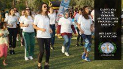 Kadınlara yönelik ücretsiz spor egzersiz programları başlıyor