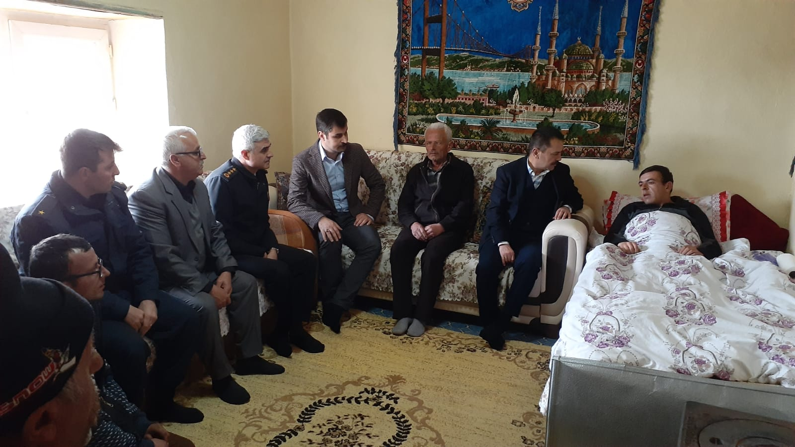 İdlib Gazisi Duranoğlu'nu ziyaret