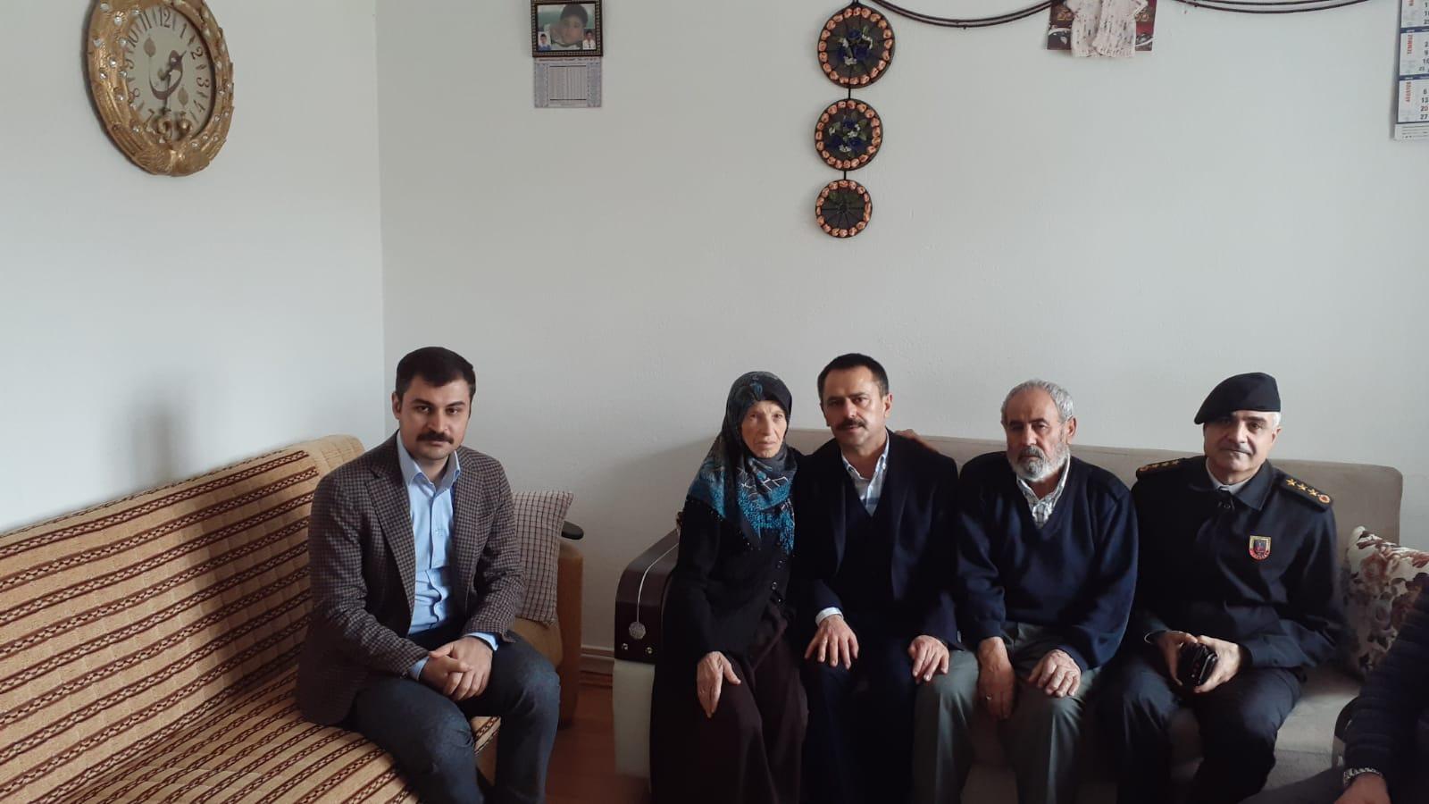 Merhum Polis Memuru Çelik'in Ailesine ziyaret