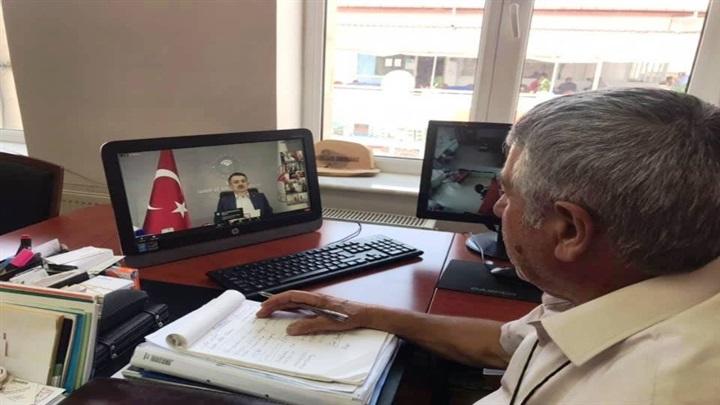 ÜZO Başkanı Korkmaz video konferans toplantısına katıldı