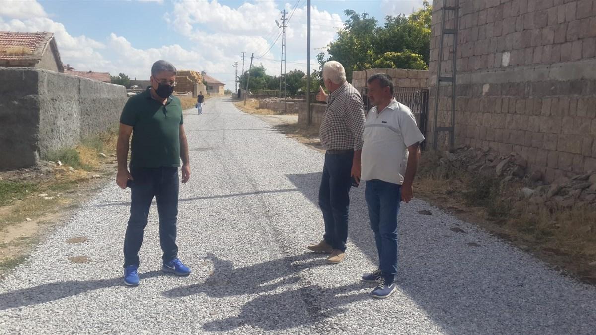 Duru, Avanos'un köylerinde yapılan asfalt çalışmalarını inceledi