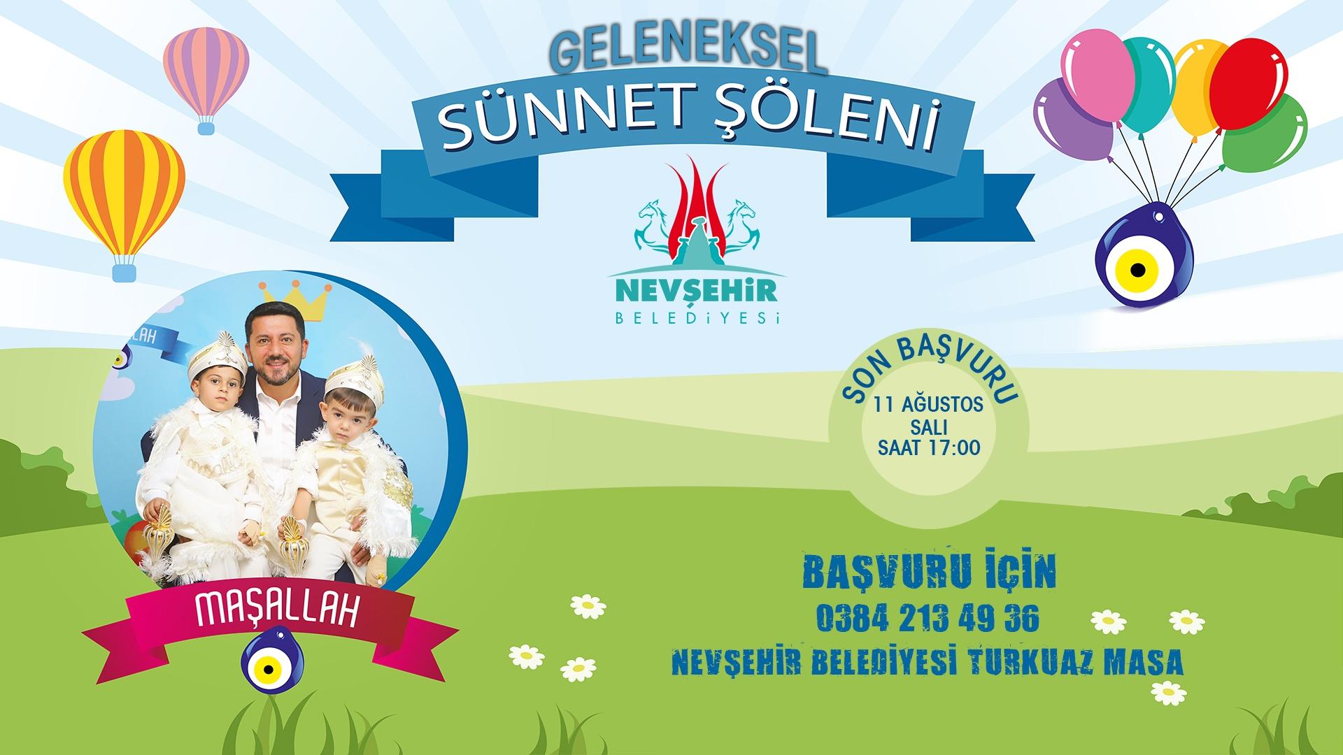 Nevşehir Belediyesi 50 çocuğu sünnet ettiriyor