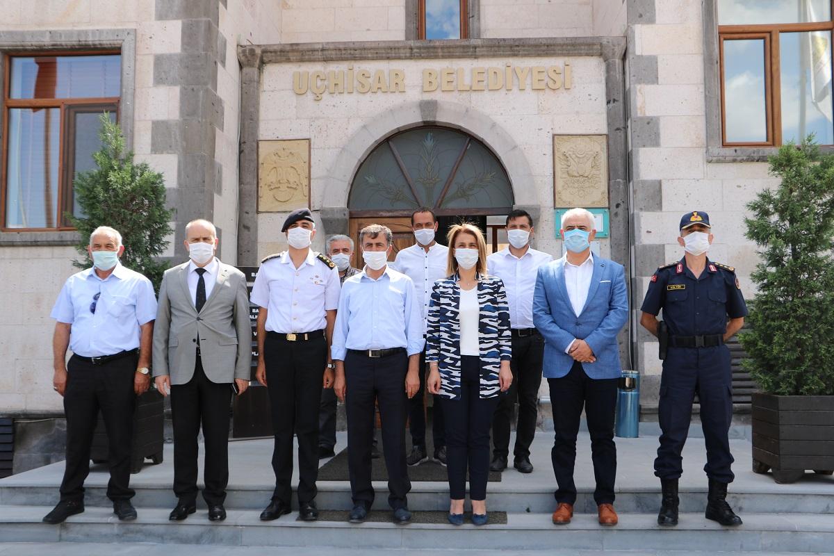 Nevşehir Valisi İnci Becel Sezer'den Uçhisar ziyareti