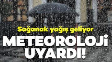 Nevşehir'de bugün sağanak yağış var