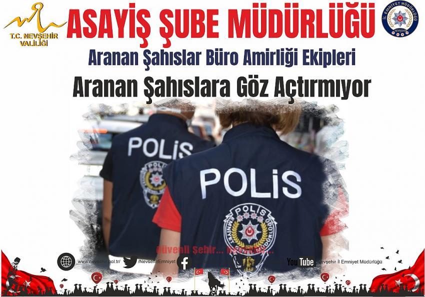 Nevşehir'de aranan 3 kişi tutuklandı