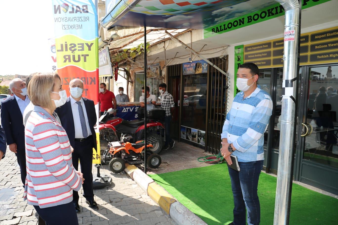 Nevşehir'de Kovid-19 denetimleri sürüyor