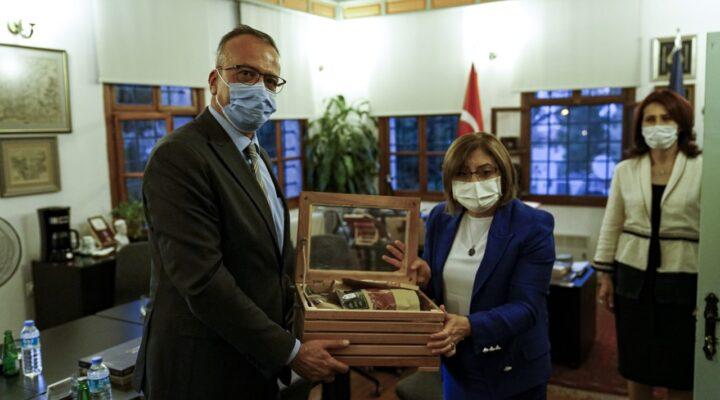 Gaziantep Büyükşehir Belediye Başkanı Fatma Şahin Kapadokya Üniversitesini ziyaret etti