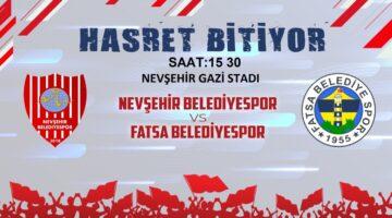 Nevşehir Belediyespor'un ilk randevusu Fatsa Belediyespor