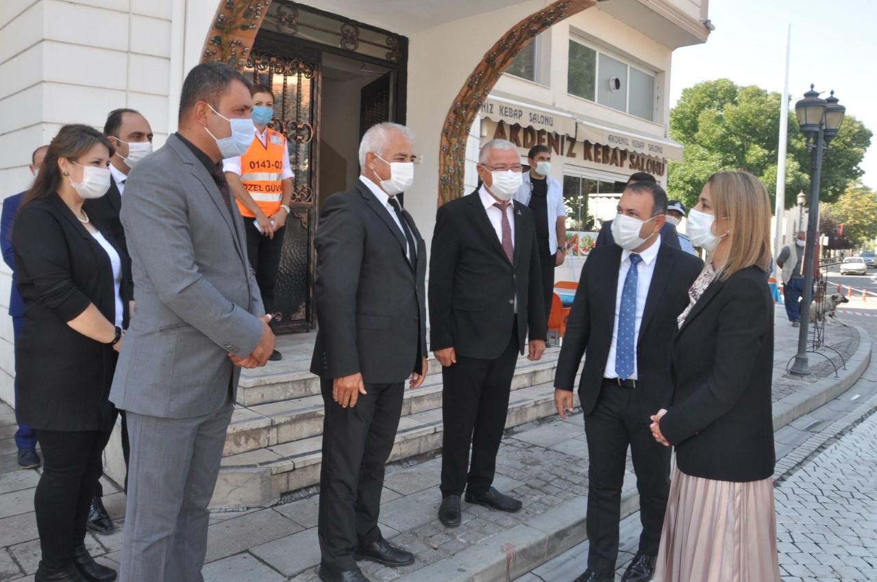Vali  İnci Sezer Becel'den Başkan İbaş'a iade-i ziyaret