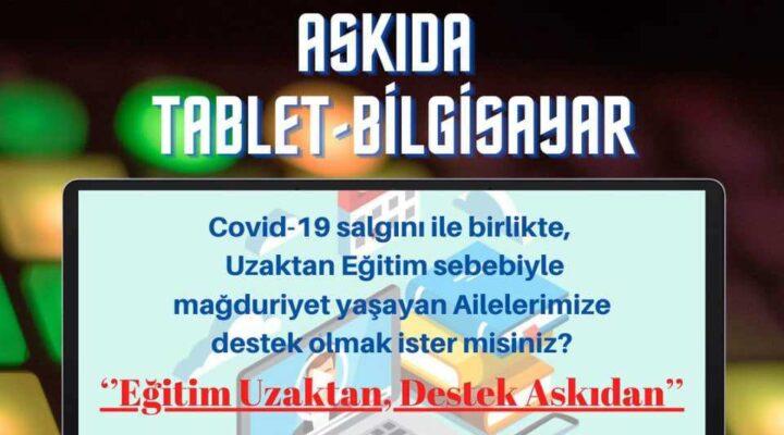 Askıda tablet – bilgisayar uygulaması Hacıbektaş'ta da başlatıldı