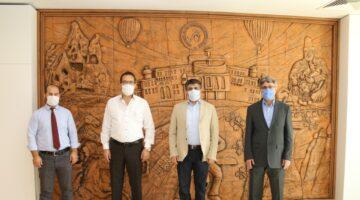 BİK Kayseri Şube Müdürü Kaya ve TGF Genel Sekreteri Ekici'den Rektör Aktekin'e ziyaret