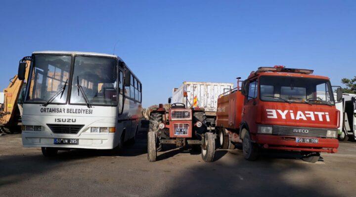 Ortahisar Belediyesi kullanılmayan araçlarını satışa çıkardı