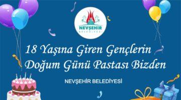 Doğum günü pastası Nevşehir Belediyesi'nden