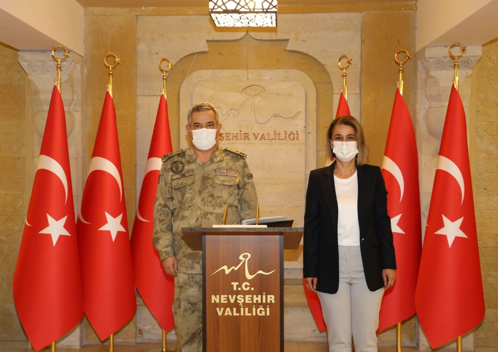Denetleme Değerlendirme Heyeti Başkanı Tuğgeneral Sır'dan Valilik ziyareti
