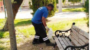 Çocuk Parklarında mıntıka temizliği