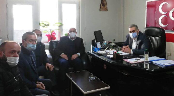 Şehitler Derneğinden Başkan Kaya'ya hayırlı olsun ziyareti