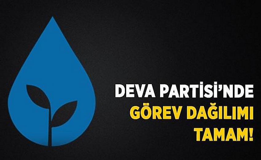 DEVA Partisinde yönetimde görev dağılımı yapıldı