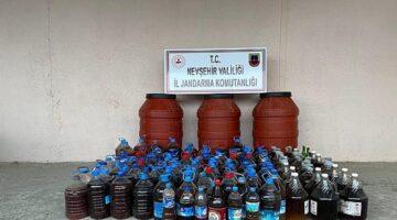 Avanos'ta 1 ton kaçak içki ele geçirildi