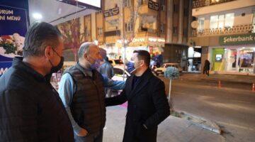 Başkan Arı'dan Lale Caddesi esnaflarına ziyaret
