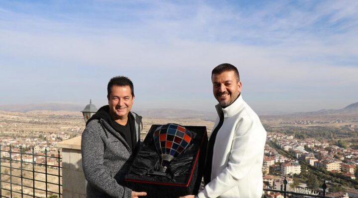 Başkan Aktürk, Acun Ilıcalı'yı Ürgüp'te misafir etti