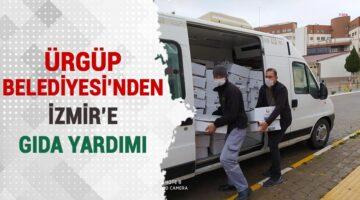 Ürgüp Belediyesi'nden İzmir'e gıda yardım