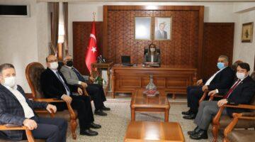 MHP heyetinden Vali Becel'e ziyaret