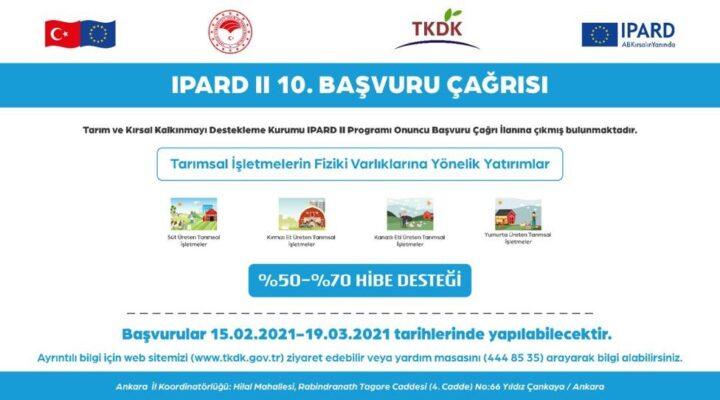 IPARD II 10. Başvuru çağrı ilanını yayınlandı