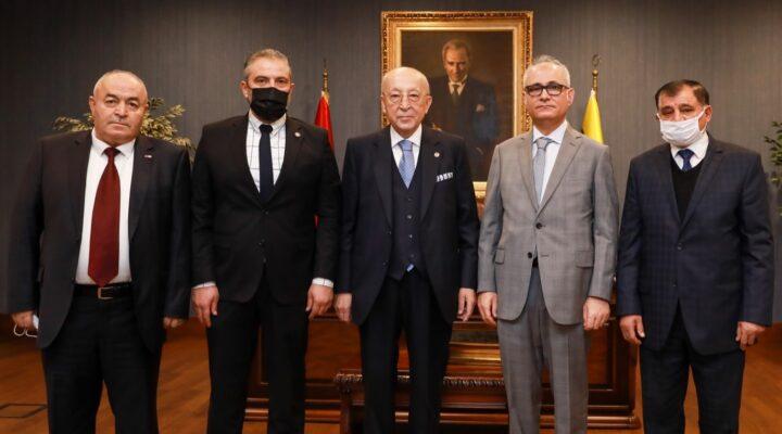 Nevşehir Kızılay Başkanı Civelek'ten Vefa Küçük'e teşekkür ziyareti