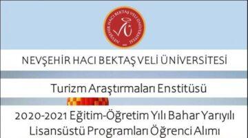 NEVÜ Turizm Araştırmaları Enstitüsü Doktora ve Yüksek Lisans Öğrencileri Alacak