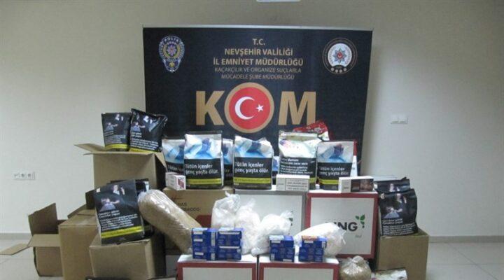 Nevşehir'de 87 kilogram kaçak tütün ele geçirildi