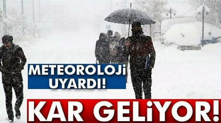 Nevşehir'e kar yağışı geliyor