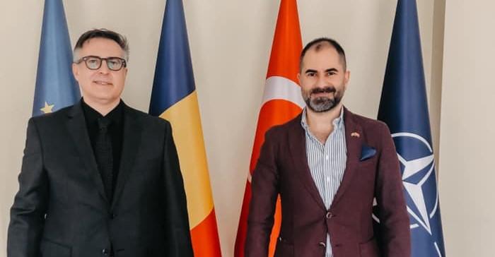 Mehmet Dinler'den Yeni Büyükelçi Tinca'ya ziyaret