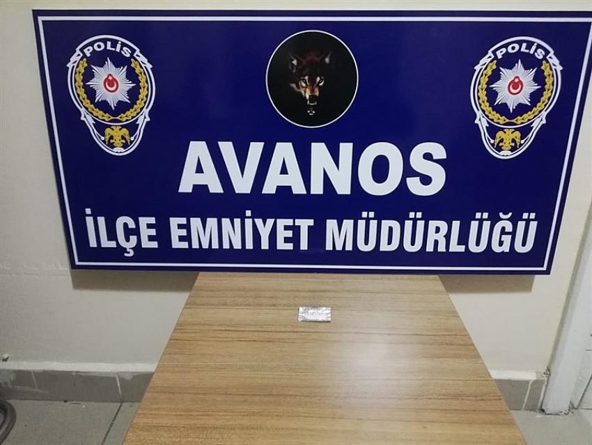 Avanos'ta şüpheli şahıstan uyuşturucu ele geçirildi