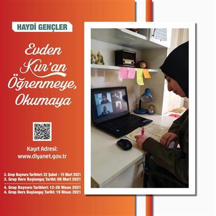 Haydi Türkiye, evden Kuran-ı Kerim öğrenmeye