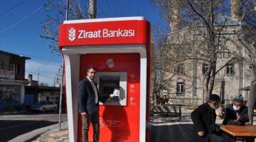 Karapınar'a ilk ATM ziraat bankasından