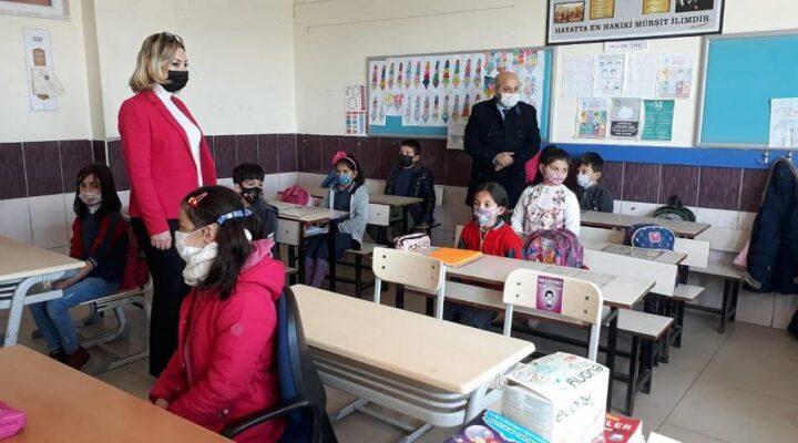 Derinkuyu'da okullardaki tedbirler denetleniyor