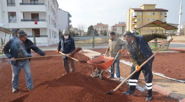 Gülşehir belediyesi ekipleri 5 ayrı koldan çalışıyor