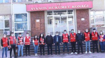 Avanos'ta önlemlere destek Kızılay'dan