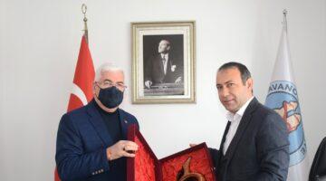 Ergene Belediye Başkanı Rasim Yüksel'den Başkan İbaş'a ziyaret