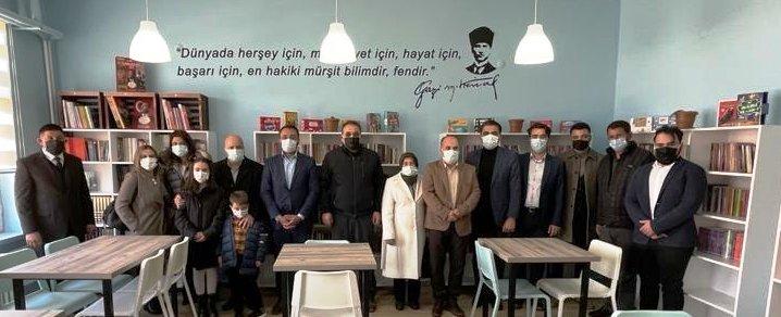 Başkan Çiftci Şehit Şahin Kaya okulunda kütüphane açılışına katıldı