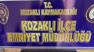 Kozaklı'da uyuşturucu kullanarak işyerine ateş eden şahıs yakalandı