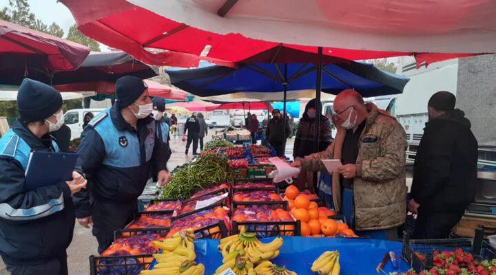 Hacıbektaş pazarında denetimler sürüyor