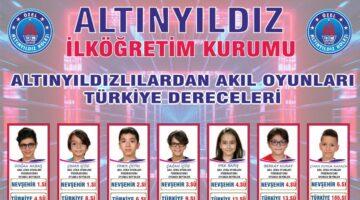 Altınyıldızlılardan Akıl Oyunlarında Türkiye Dereceleri