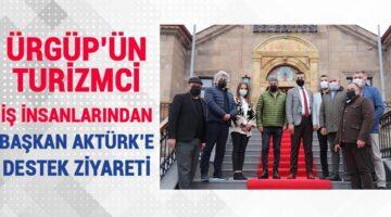 Ürgüp'ün Turizmci İş Adamlarından Başkan Aktürk'e ziyaret