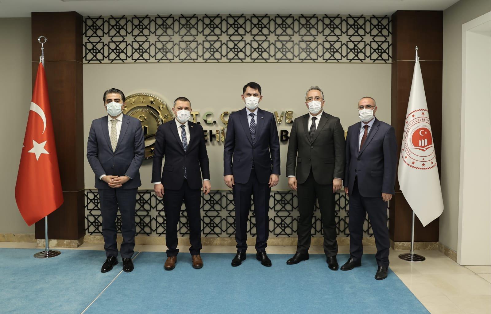Çevre ve Şehircilik Bakanı Murat Kurum'a ziyaret