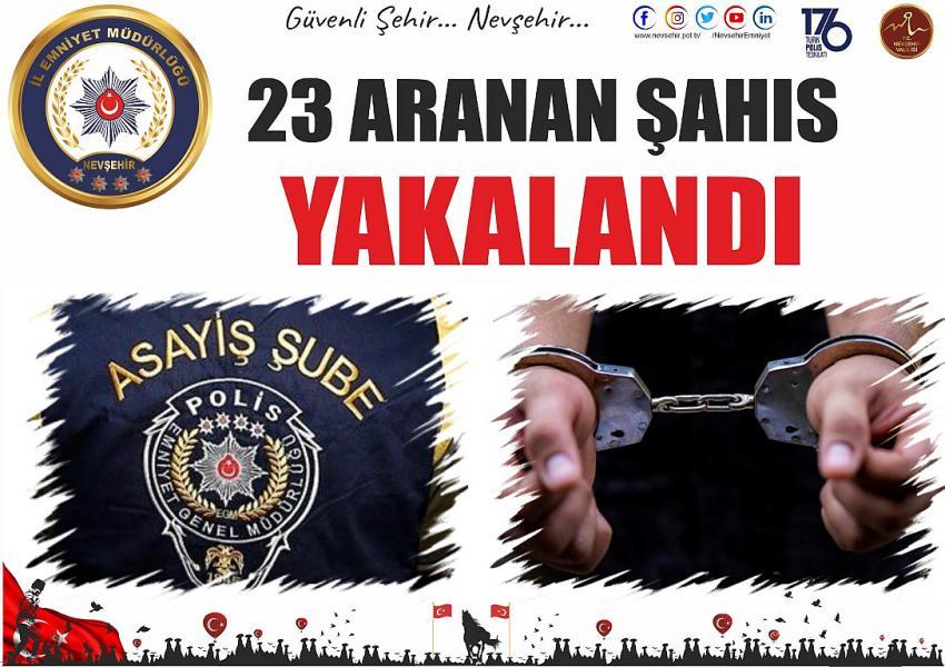 Aranan 23 kişiden 7'si tutuklandı