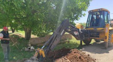 Hacıbektaş'ta yeni su hattı çalışması