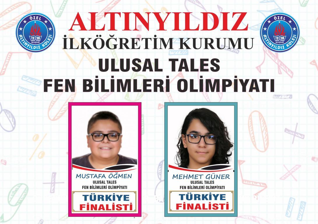 Altınyıldızlılar Tales Fen Türkiye Finalisti