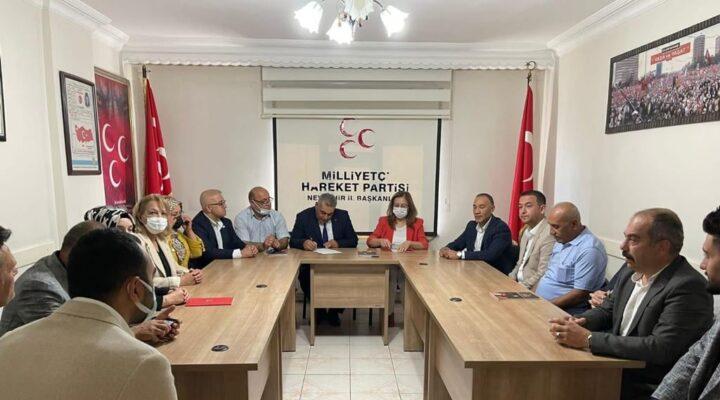 Kılıç, MHP Nevşehir Teşkilatını ziyaret etti